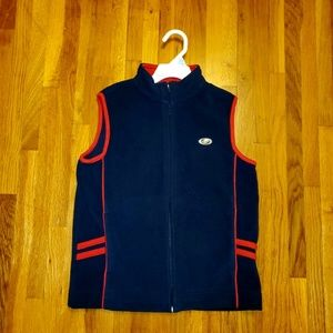 Tommy Hilfiger Navy Red Soft Zip Vest